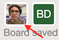User profile icon on Sketchboard