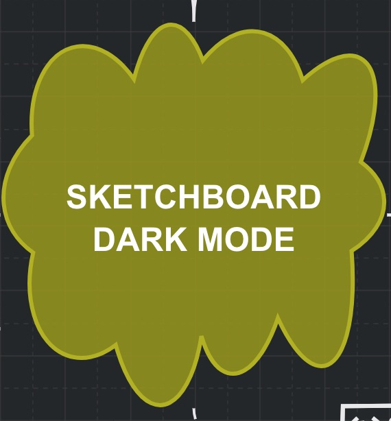 Sketchboard shape using dark mode - light border color