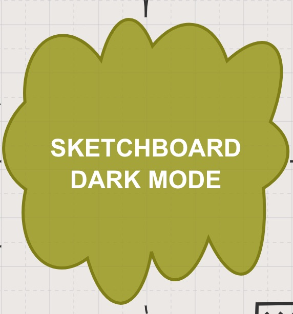 Sketchboard shape using grid mode - darker border color