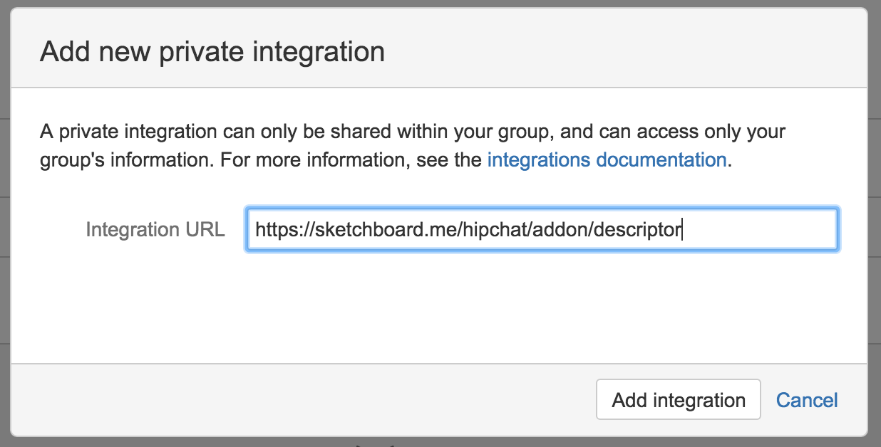 Sketchboard.io Slash Command for HipChat Installation