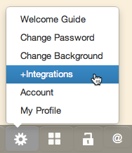 Integrations Menu